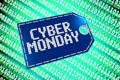 Cyber Monday concept... Stock Photography