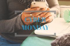 Cyber Monday concept, Typography on image vector illustration