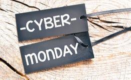 Cyber monday. Cygar monday Black Price tag Stock Photo