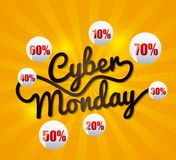 Cyber monday deals Royalty Free Stock Images