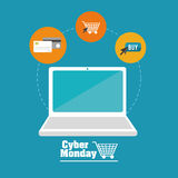Cyber Monday design Stock Photography