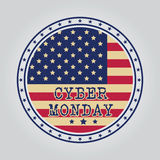 Cyber monday design. Vector illustration eps10. Stock Image