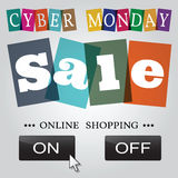 Cyber monday design. Vector illustration eps10. Royalty Free Stock Photos