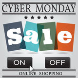 Cyber monday design. Vector illustration eps10. Stock Photos