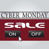 Cyber monday design. Vector illustration eps10. Royalty Free Stock Image