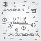 Cyber monday design. Vector illustration eps10. Royalty Free Stock Images