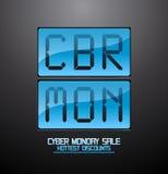 Cyber monday discounts flip clock. Royalty Free Stock Photos