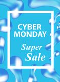 Cyber Monday flyers, templates for your poster design, invitation, banner. Special offer, discounts. Vector illustration Royalty Free Stock Photos