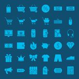 Cyber Monday Glyph Web Icons. Vector Set of Business Solid Objects Royalty Free Stock Image