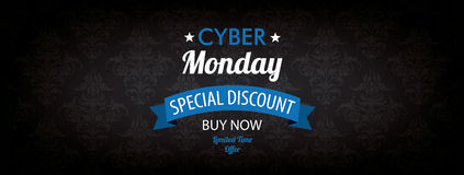 Cyber Monday Header Wallpaper Ornaments Stock Image