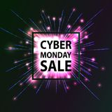 Cyber Monday Hot Sale. Royalty Free Stock Images