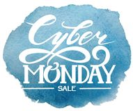 Cyber Monday. lettering.Vector Graphics, Sale Royalty Free Stock Photography