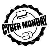 Cyber Monday mouse and credit card stamp Stock Image