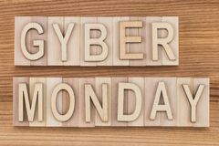 Cyber Monday - online shopping and marketing concept - text, woo stock image