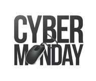 Cyber monday phone sign illustration Royalty Free Stock Images