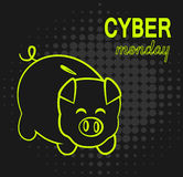 Cyber Monday pig bank Stock Images