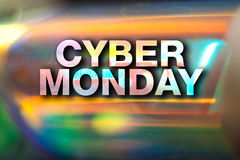 Cyber monday poster Stock Image