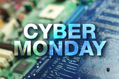 Cyber monday poster Royalty Free Stock Photography