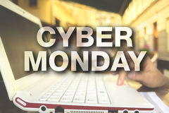 Cyber monday poster Royalty Free Stock Images