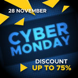 Cyber Monday promo banner vector background Stock Photography