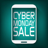 Cyber monday promotional banner or poster for Stock Images