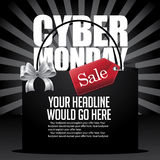 Cyber Monday sale background design with copy space Royalty Free Stock Images