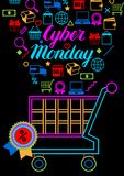 Cyber monday sale background. Online shopping and marketing advertising concept Stock Photo