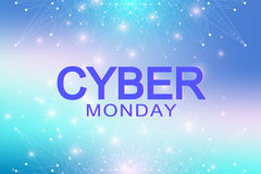 Cyber Monday Sale background. Promotional banner design. Graphic abstract background communication. Royalty Free Stock Images
