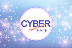 Cyber Monday Sale background. Promotional banner design. Graphic abstract background communication. Label Cyber Monday Royalty Free Stock Image