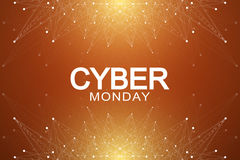 Cyber Monday Sale background. Promotional banner design.. Cyber Monday Sale background. Promotional banner design. Graphic abstract background communication Stock Image