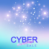 Cyber Monday Sale background. Promotional banner design.. Graphic abstract background communication Royalty Free Stock Image