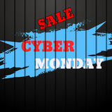 Cyber Monday Sale background with space for your text  ill Royalty Free Stock Photography