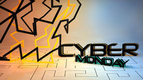 Cyber Monday sale background Royalty Free Stock Photos