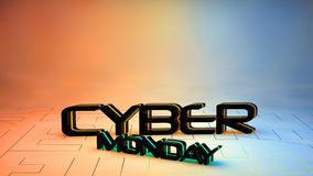 Cyber Monday sale background Stock Image