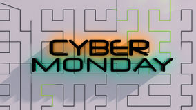 Cyber Monday sale background Stock Photo