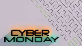 Cyber Monday sale background Royalty Free Stock Image