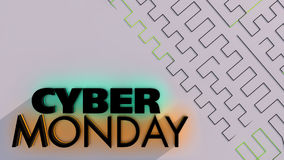 Cyber Monday sale background Royalty Free Stock Photography