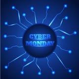 Cyber monday sale background. stock illustration