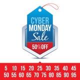 Cyber Monday Sale Badge vector illustration