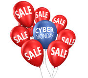 Cyber Monday Sale Balloons Stock Image