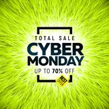 Cyber Monday sale banner Royalty Free Stock Photography
