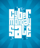 Cyber monday sale banner. Royalty Free Stock Images