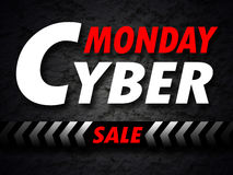 Cyber Monday sale banner Stock Photo