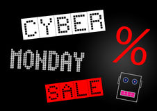 Cyber Monday sale banner Royalty Free Stock Photo