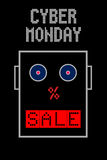 Cyber Monday sale banner Stock Image