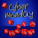 Cyber Monday sale concept... Royalty Free Stock Photo