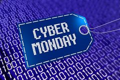 Cyber Monday sale concept... Royalty Free Stock Photography