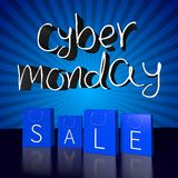 Cyber Monday sale concept... Royalty Free Stock Photos