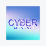Cyber Monday Sale flyer design template. Graphic abstract background communication. Cyber Monday Sale Vector Stock Image
