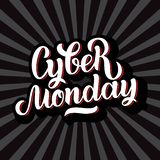 Cyber Monday Sale handmade lettering, calligraphy background for logo, banners, labels, badges, prints, posters, web stock photography
